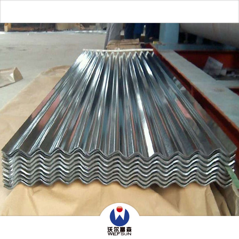 3/6/12 waves color coated galvanized corrugated steel sheet / GI / PPGI roofing plate