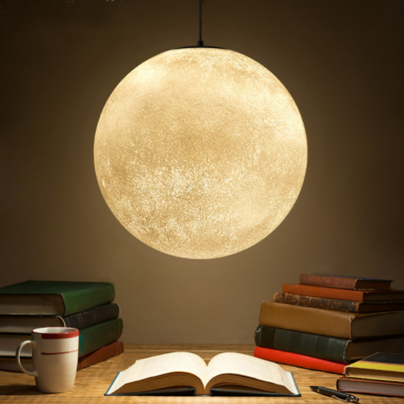 Hot sale 3d hanging moon lamp led pendant light