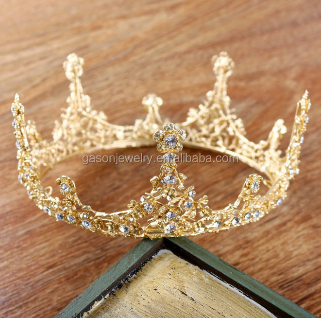 Fashion European baroque crystal pageant crown