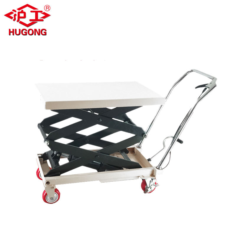 350kg lifting height 1.5m hand lift table manual hydraulic platform lift for sale