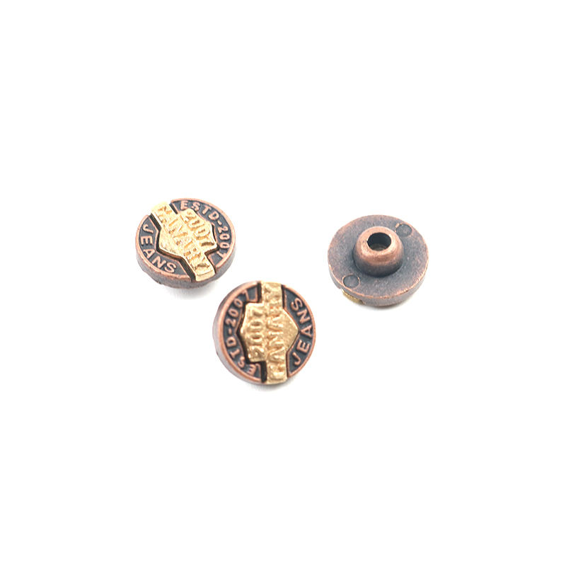 Metal Rivet Good Price Jeans Rivets Factory Supplier Direct Supply Gold Silver Antique Brass Custom Metal Denim Jeans Rivet