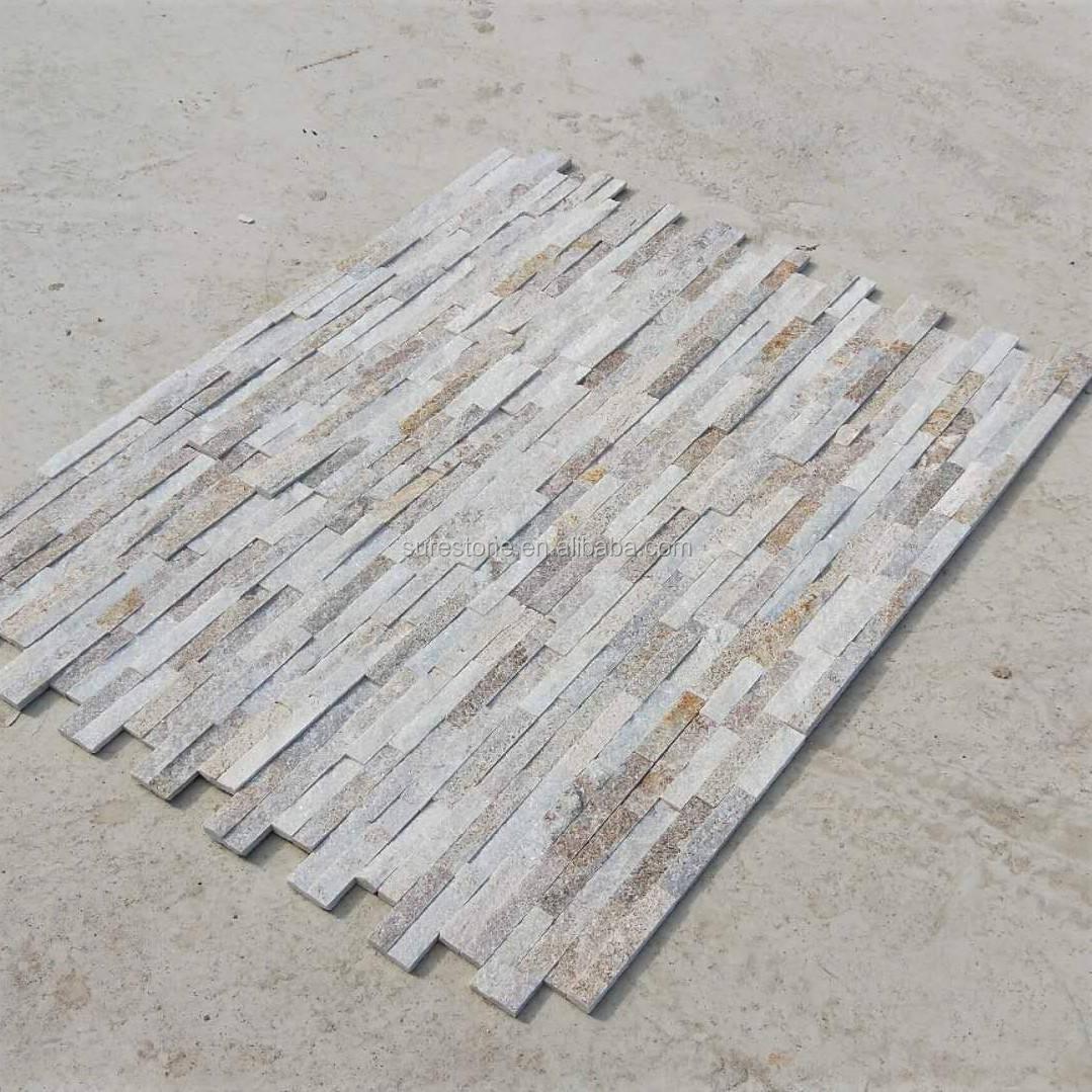 Натуральный камень кварца панели для отделки стен Кварцит Плит