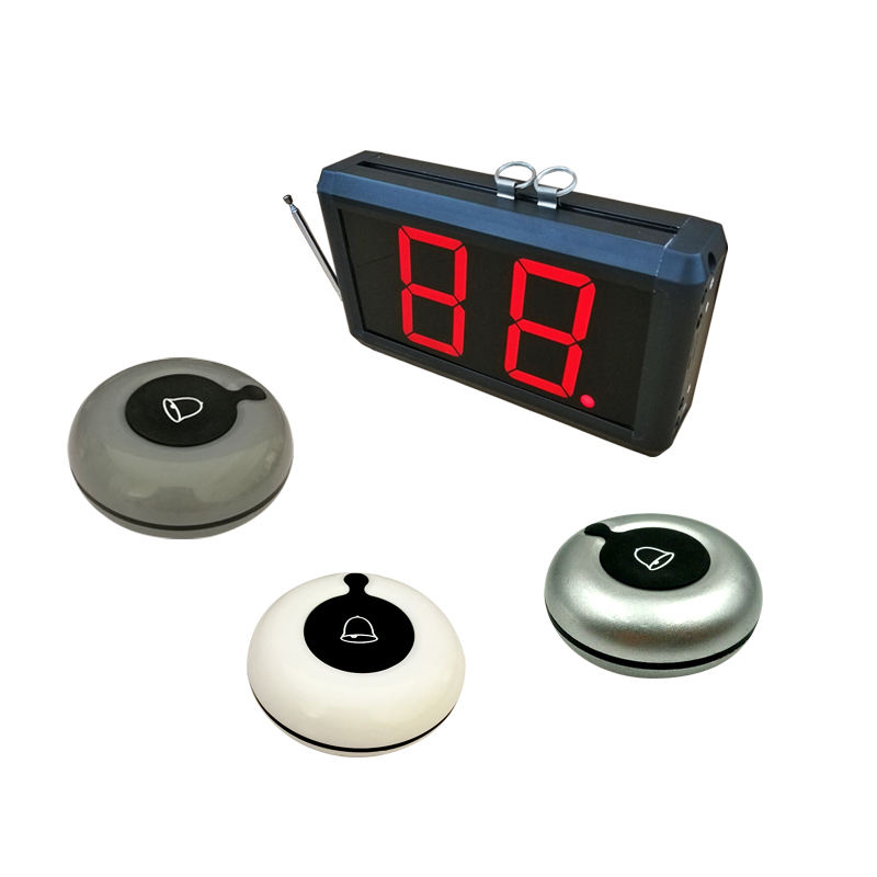 Easy to use electronic ring beeper wireless call bell for office