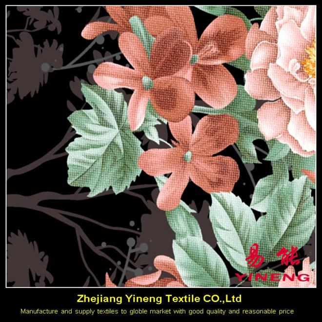 Pigmento de impresión personalizada 100% tejido de poliéster popular impreso textiles para el hogar <span class=keywords><strong>cama</strong></span> hoja perú tejido textil