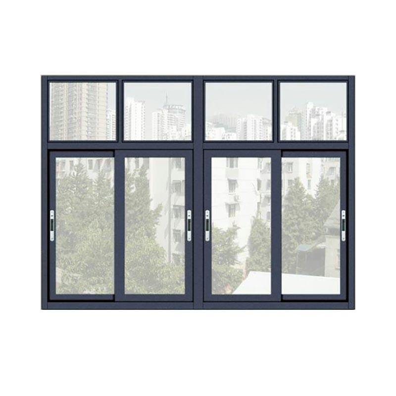 USA style store front commercial use aluminum casement window aluminium sliding glass windows design