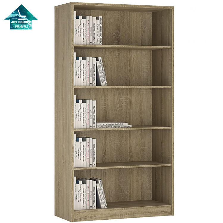modern simple design wooden 2-5 level bookshelf for office room bookcase
