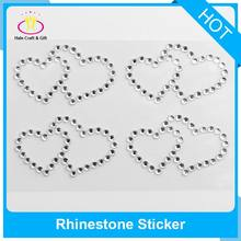 Rhinestone Diamante Embellishment Round Heart Gems Crystal Sticker