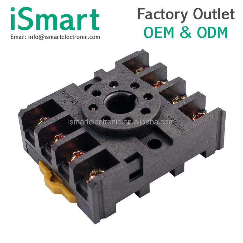 Base de relais PF083A Socle de relais de puissance /à 8 broches pour relais temporis/é MK2P AH3