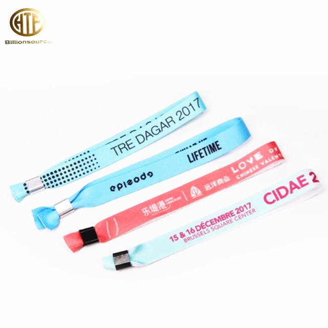 One Time Use Polyester Bracelet with Plastic Lock