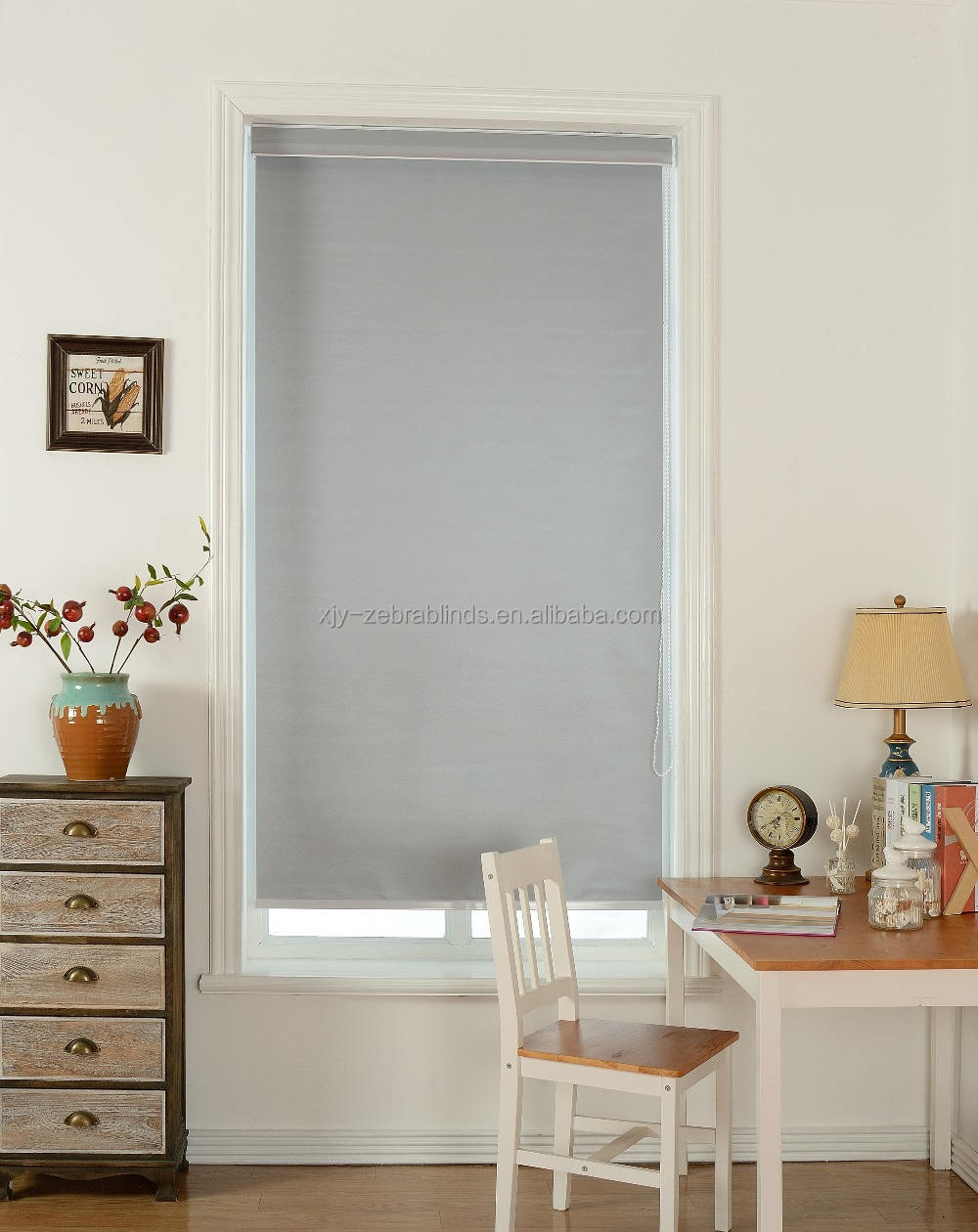 100% polyester plain construction roller blind fabric