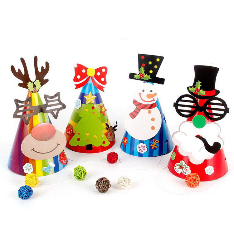 <span class=keywords><strong>DIY</strong></span> Kinderen Kerstman Rendier <span class=keywords><strong>Sneeuwpop</strong></span> Party Hat Christmas Party Decor <span class=keywords><strong>Foto</strong></span> Items Kerst Papieren Hoed