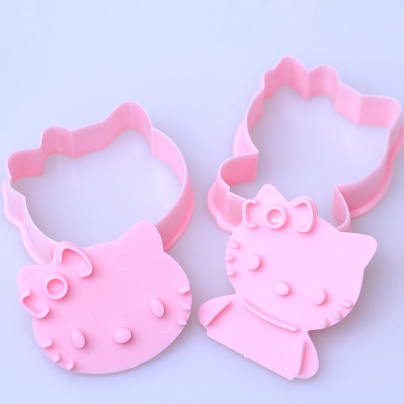 Kitty cat plastic cookie cutter