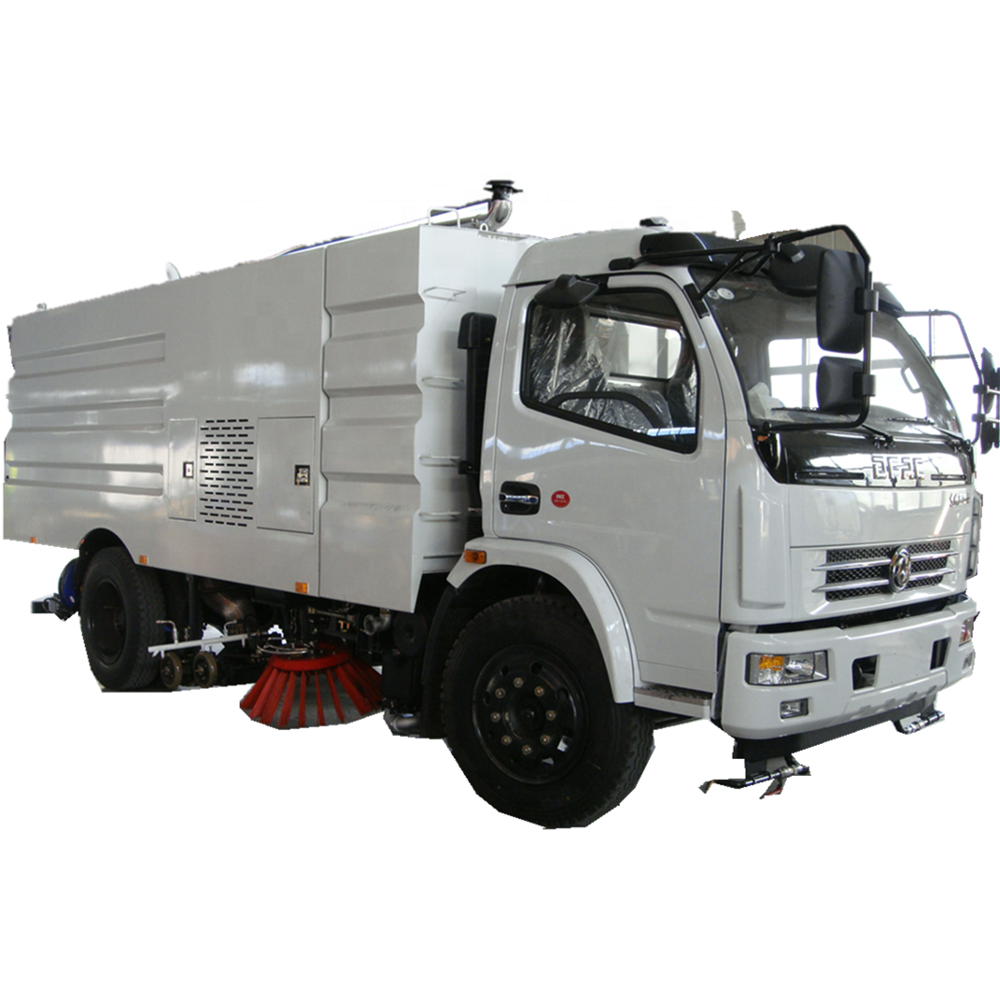 cheapest light duty left hand drive airport runway sweeper truck with high pressure water jetting