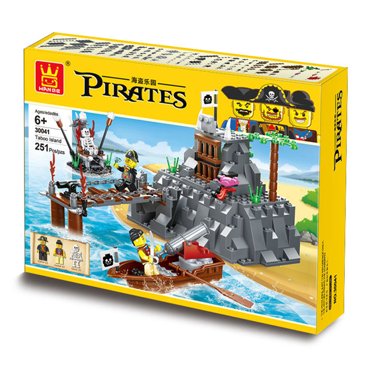 WANGE pirate ship toys jumbo construction set building blocks