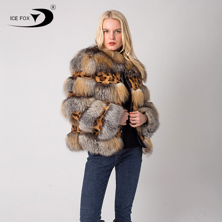 New Fashion style real natural suitable for women's fur fox coat