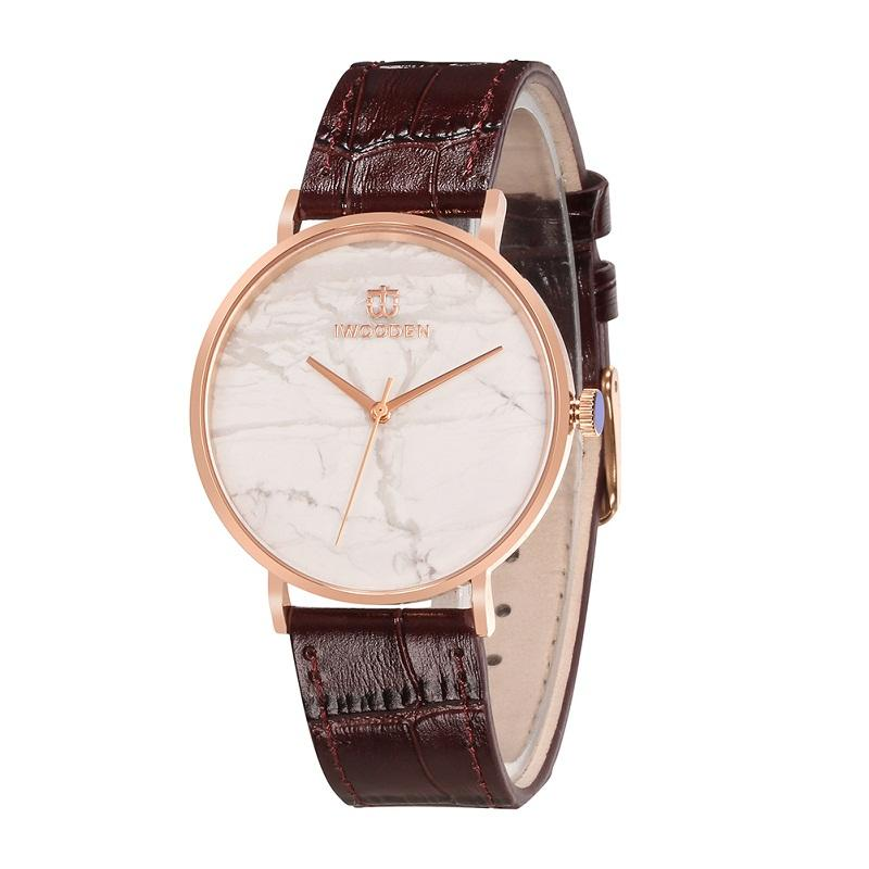 Italian Watches Ultra-thin Luxury Mens Top Quality Italian Leather Band Stone Face Watch Women