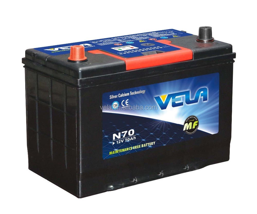 27 year manufacturer N70 MF baterias de auto 12V70Ah battery for car new Korean technology battery