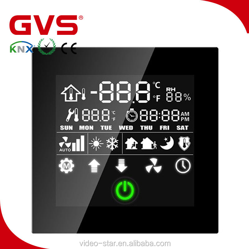 2017 Wholesale Price GVS K-bus KNX/EIB Smart Home/Building product KNX Line Couple Thermostatic Panel temperature control panel