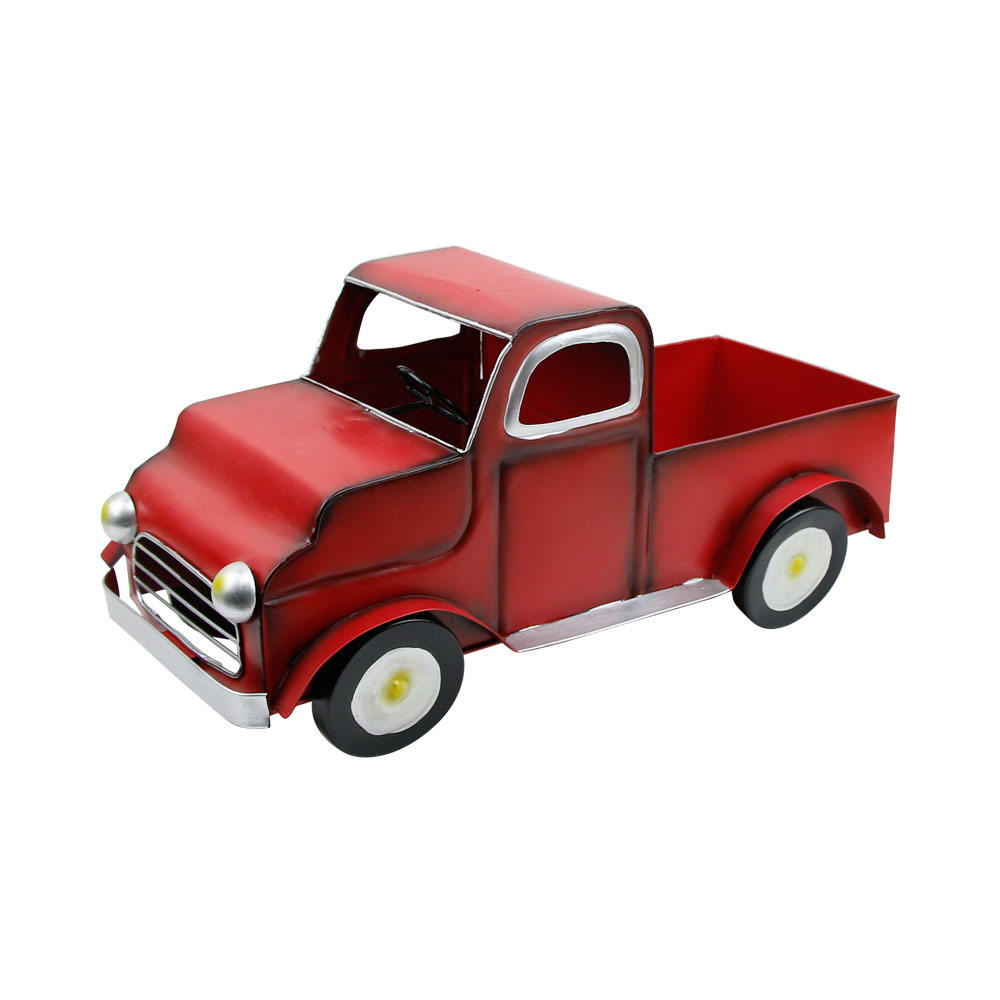 Truck Ornaments of Home and Garden Flower Pot Metal for Garden Decoration