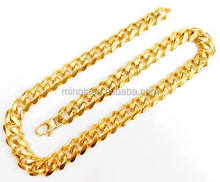 11mm Width 24k Gold Plated Curb Chain, Stainless Steel Jewellery