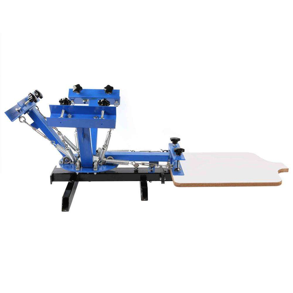 4 Color 1 Station mini manual T shirt Press Silk Screen Printer for sale
