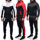 Wholesale Winter Hooded 2 Piece Plain Men Gym Sweatsuit Jogging Suit Set