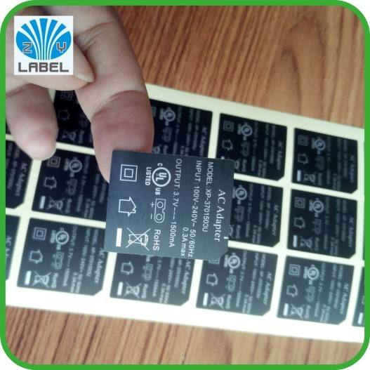 Fancy custom led light label sticker printing, waterproof led sticker with logo and brand printed, adhesive led flashing label