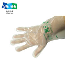 alibaba china eco compostable plastic disposable gloves for food