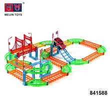 good design colorful diy track toys electric rail car for sale
