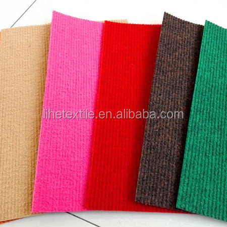 100%Polyester Non-Woven Needle Punch Ribbed Carpet