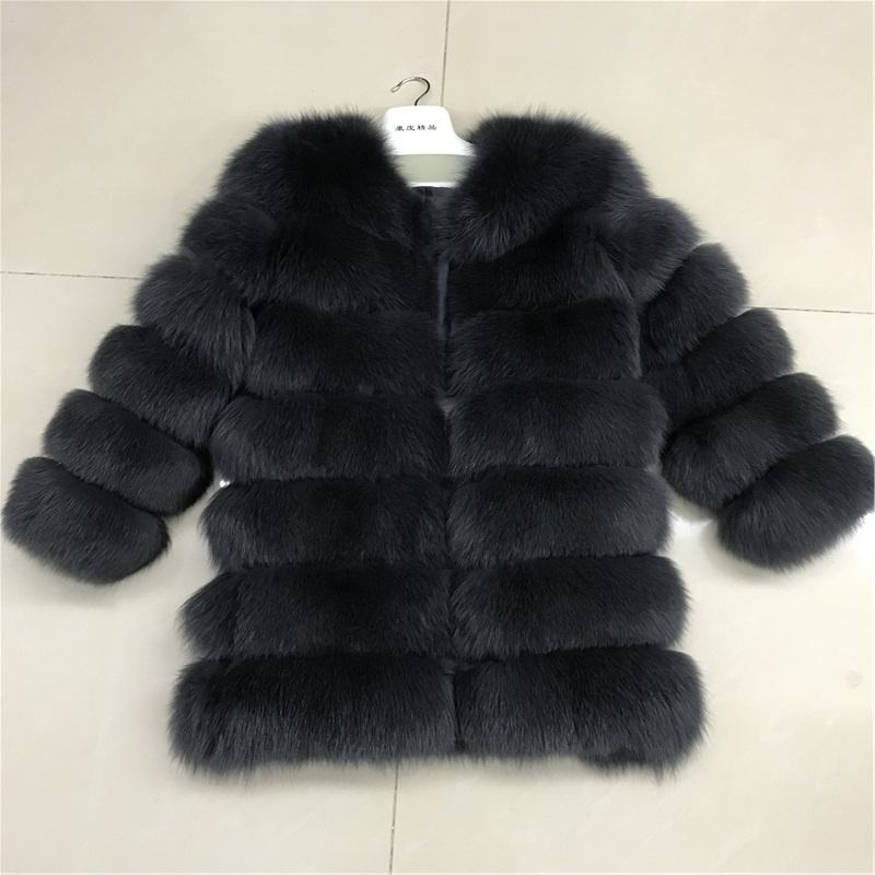 factory price women winter warm long style real fox fur coat