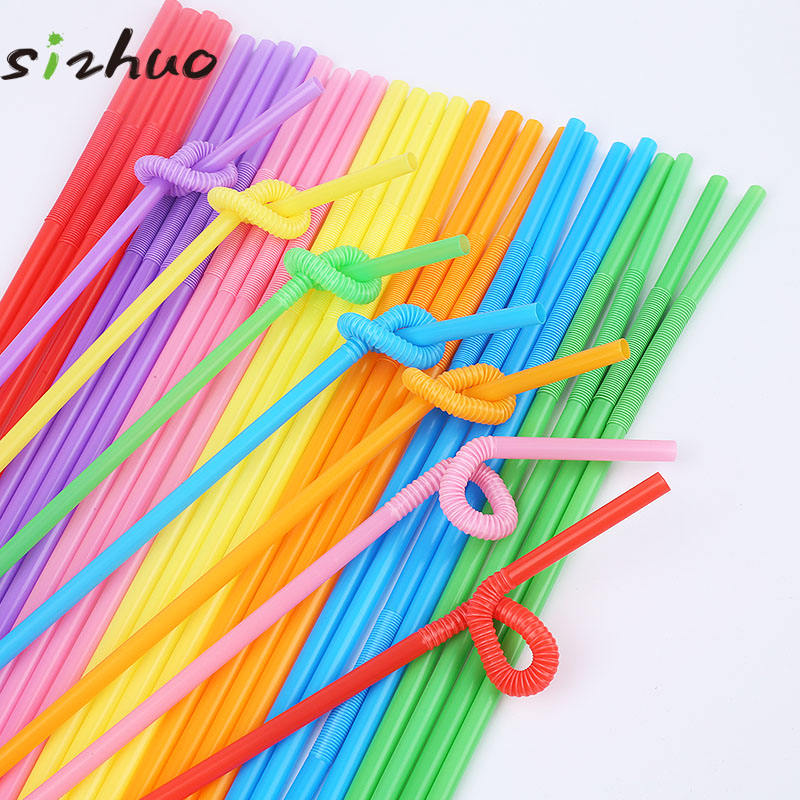 Colorful PP disposable plastic drinking straw