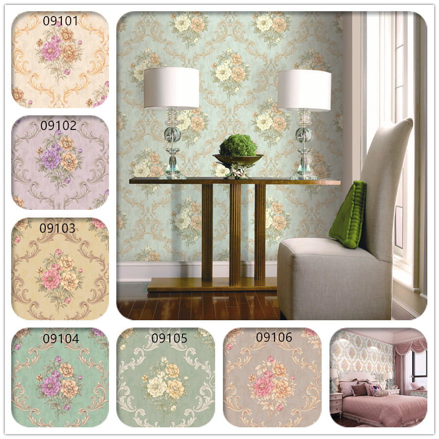 Highly recommend best quality luxury wallpaper home decoration glistening flower pvc vinyl big roll korea 1.06 wallpaper