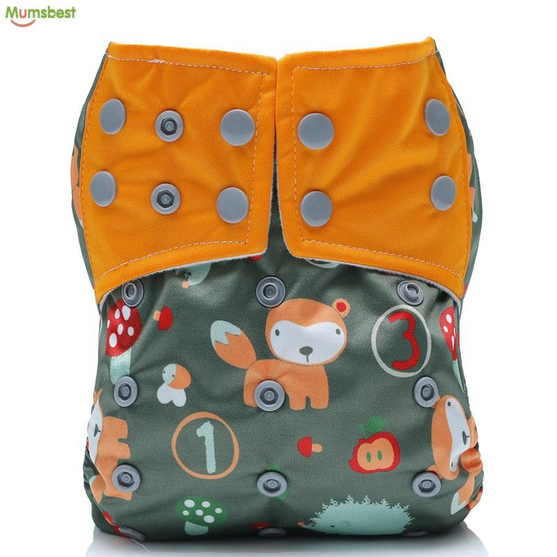 For 3-15KG babies one size Adjustable Flushable cloth Nappies Diapers Cover for Infant use