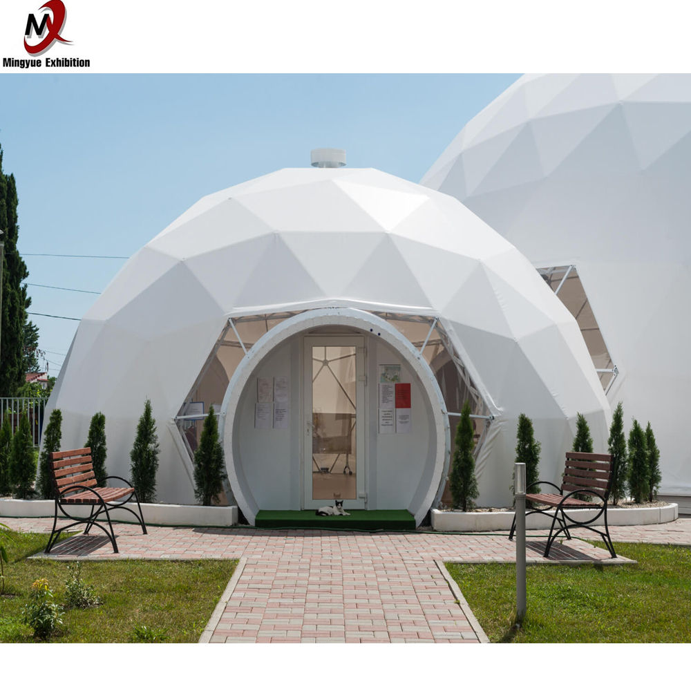 2020 new arrivals luxury outdoor dome shape clear transparent geodesic waterproof Aluminium Frame PVC event dome tent