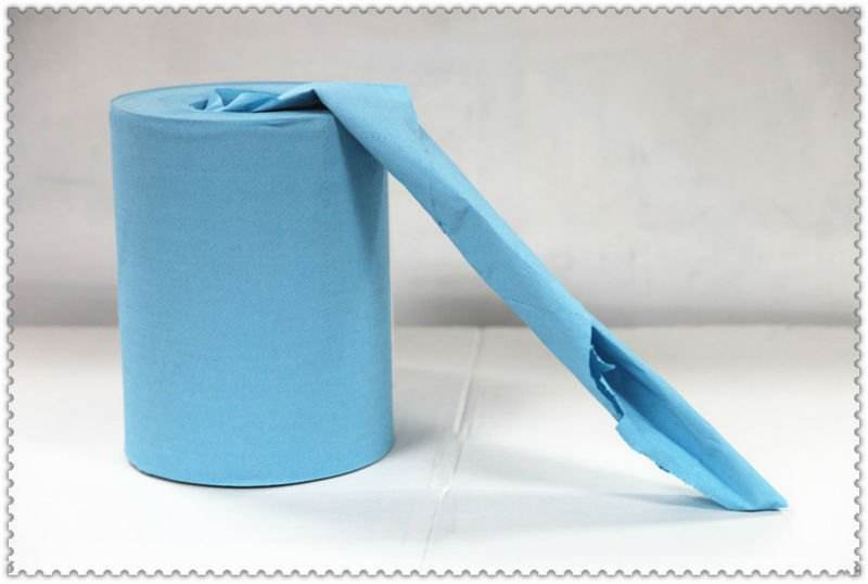 Iply 100%recycle blue hand roll towel ,color paper towel