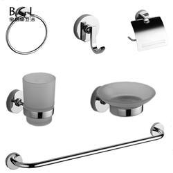 18000 Round Plate European Design Zinc Alloy Silver Color Bathroom Accessories Set