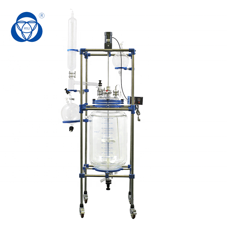 Cannabis extraction reactor lab glass reaction vessel