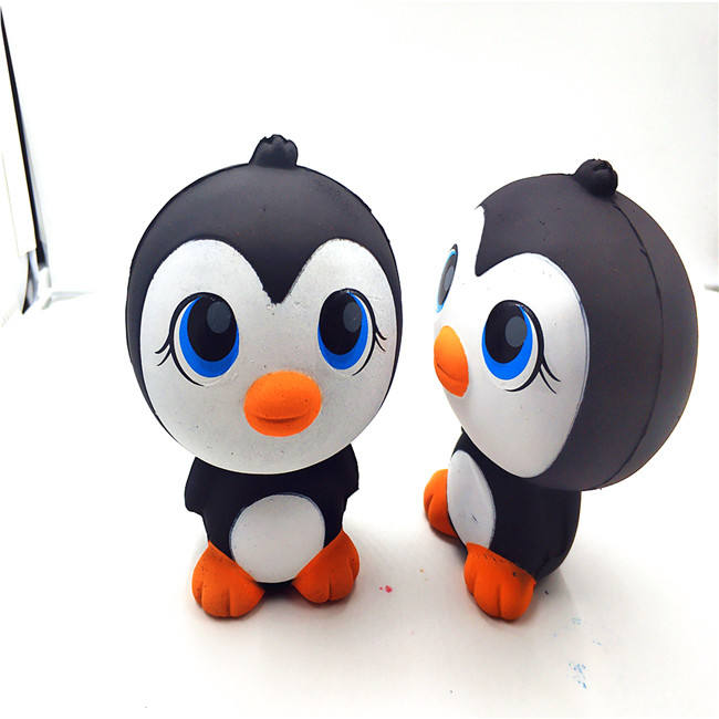 Animal Penguin Squishies Keychain Slow Rising cream Scented Stress Doll Penguin toy