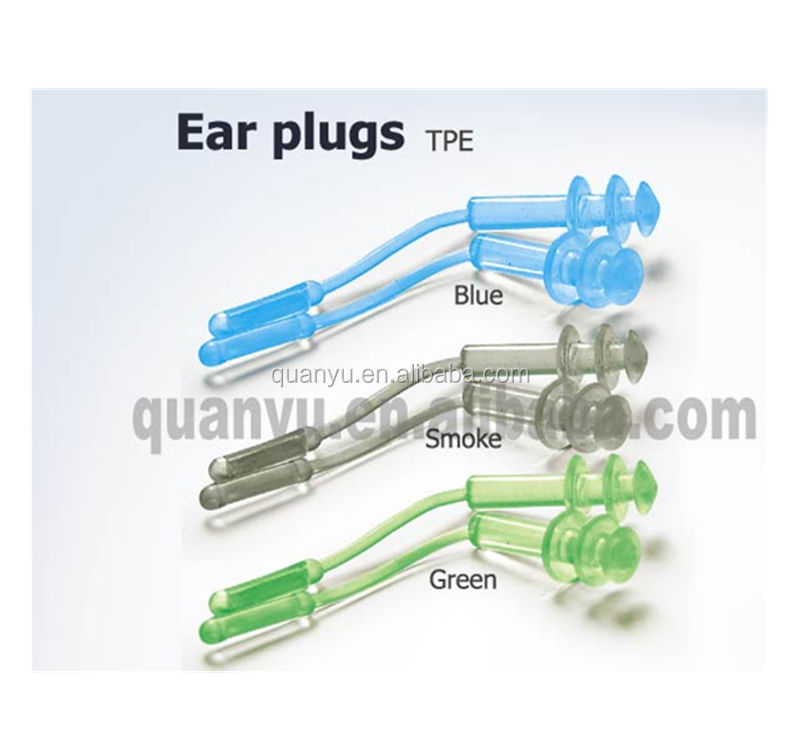 Professional Comfortable flexible Waterproof TPE Swimming Ear Plugs