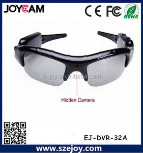 klasik tasarım kamuflaj Video sunglass kamera esnek iğne deliği kamera