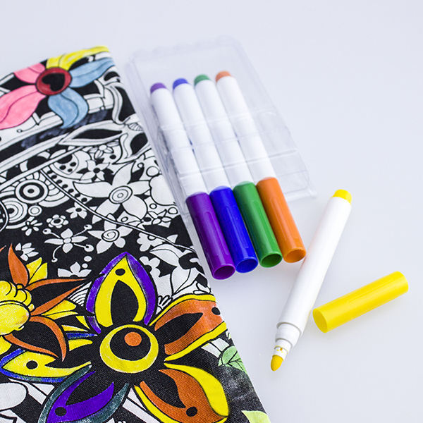 Water-based 24colors Customized Custom Logo Water Washable Color Fabric Marker White Ink Pen
