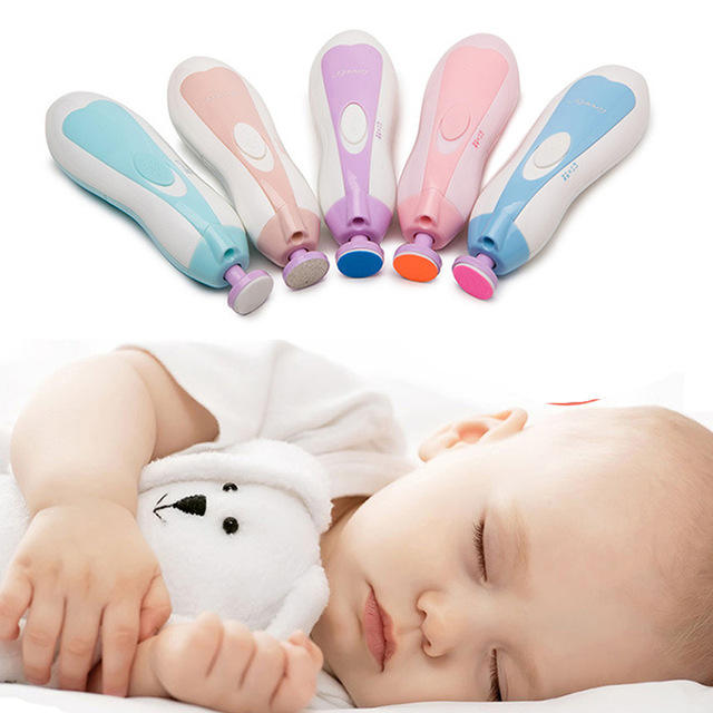 Portable Baby Nail Care Tools and Equipment Electric Nail File Set Baby Nail Trimmer
