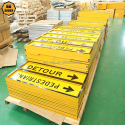 Singapore aluminium building construction safety signage with frames