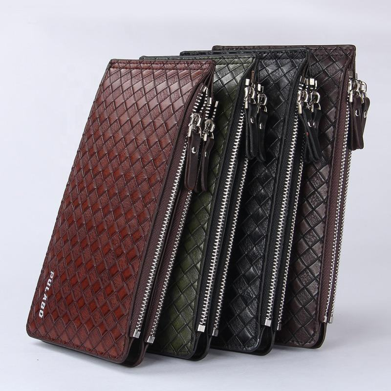 Professional leather wallet inserts male wallet cheque book holder wallet
