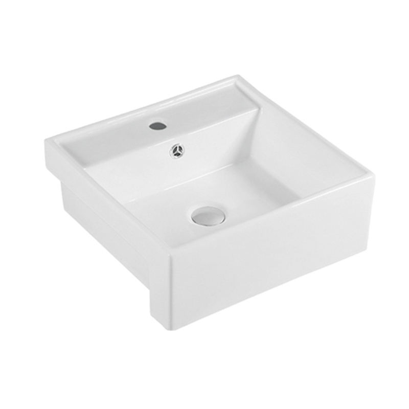 Australia Bathroom Semi-counter Basins Ceramic Square Shaped Wash Basin