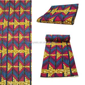 Haute qualité africain cire tissus imprimé hollandais cire 100% coton véritable réel bloc de cire