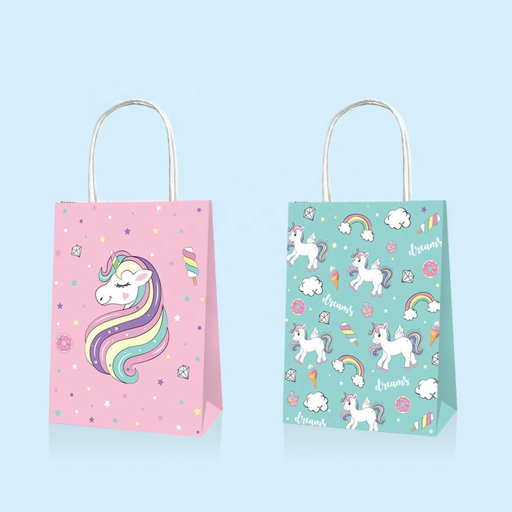 supplies baby shower unicorn party favor bag pink unicorn goody bag for kids birthday