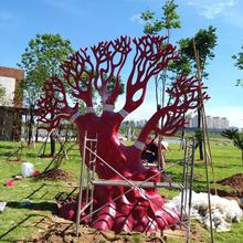 flagship store maison window display tree props decoration sculpture  Giant animation for luxury brand