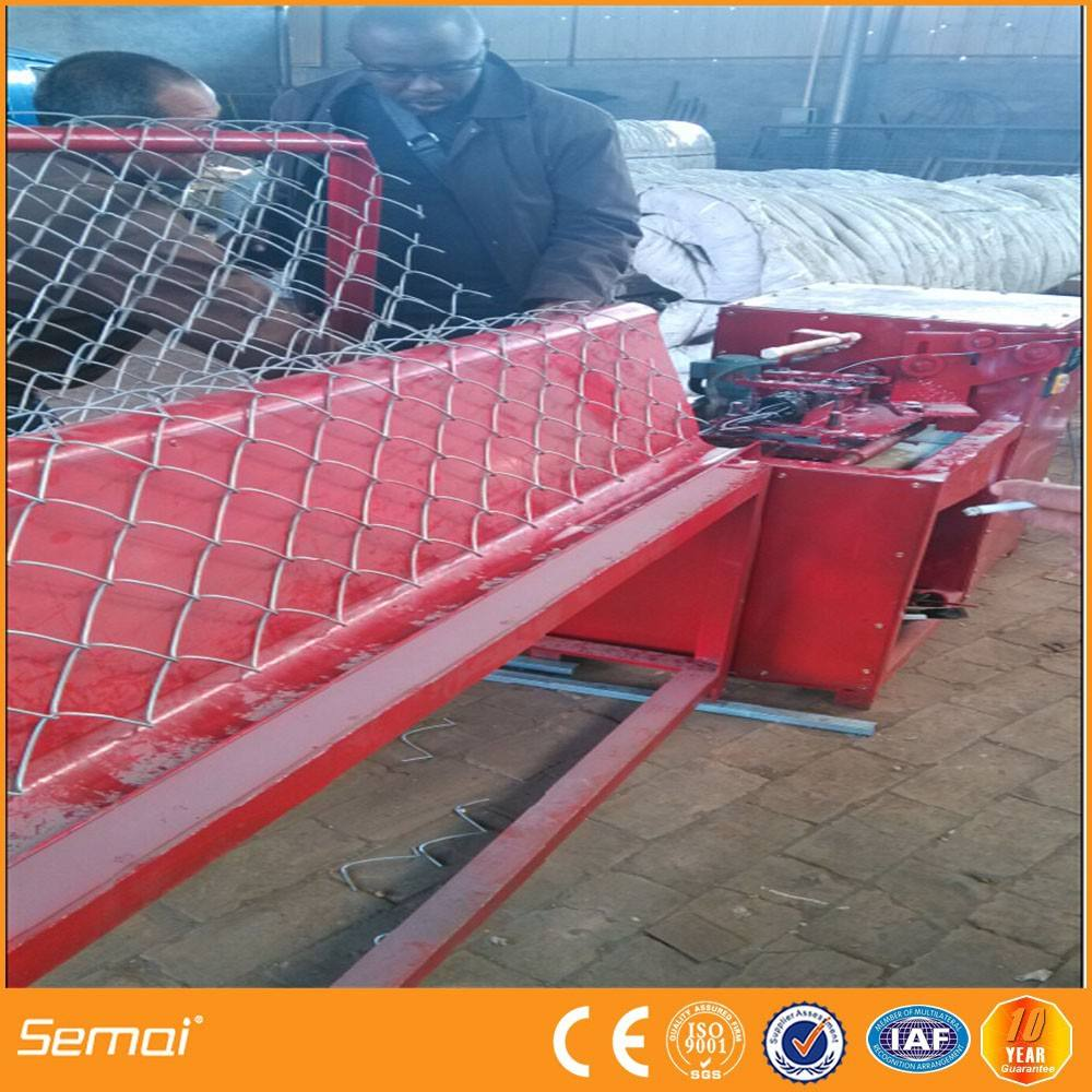 Industrial machinery equipment semi automatic chain link fence machine with factory best price